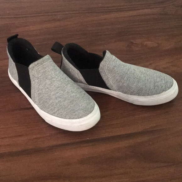 Zara Shoes | Zara Grey Slip On Sneakers